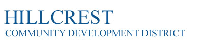 Hillcrest Community Development District Logo